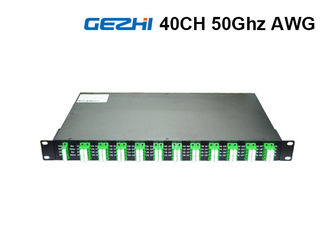 50Ghz 80 Channel DWDM Mux Demux Rack Module Duplex Fiber  ITU Grid Wavelength